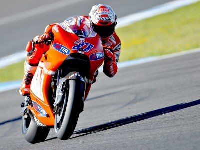 Stoner and Hayden prepared to put on a show at Ducati 'home'