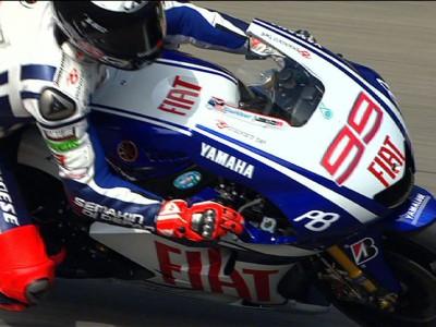 Lorenzo domine une séance d'essais marquée par la chute et l'abandon de Rossi