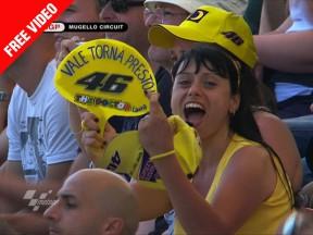 Mugellos Gruß an Valentino Rossi