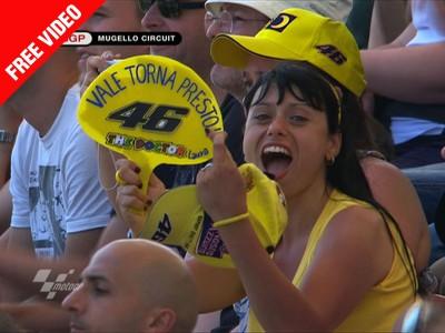 El emotivo saludo de Mugello a Valentino Rossi