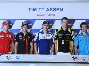 La rueda de prensa del TIM TT Assen