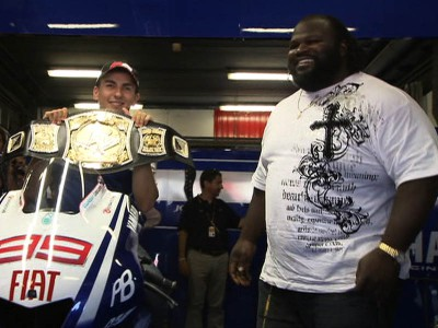 WWE star Mark Henry gets to grips with MotoGP