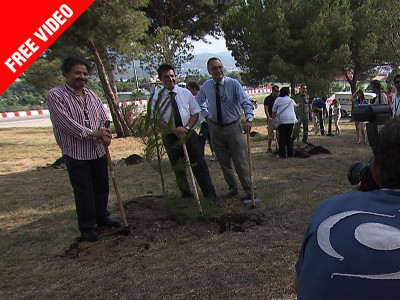 Fundación Repsol and Dorna continue tree planting project in Barcelona
