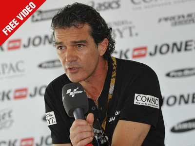 Antonio Banderas comenta los planes actuales y de futuro en MotoGP