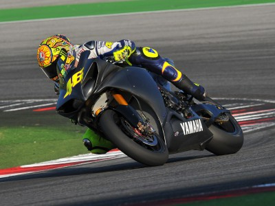 Valentino Rossi test ride in Misano today