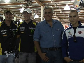 Le stelle Yamaha in visita a Jay Leno