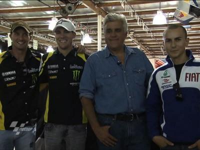 Yamaha stars visit Jay Leno