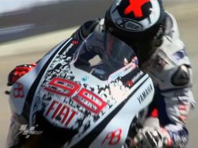 Lorenzo laps fastest in second practice