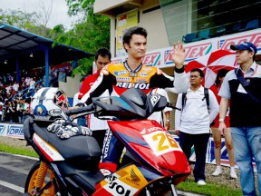 Dani Pedrosa besucht Honda Racing Schule in Indonesien