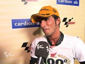 El podio nº 100 de Gresini refuerza las aspiraciones de Elías al título