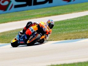 Second row for Dovizioso and Pedrosa