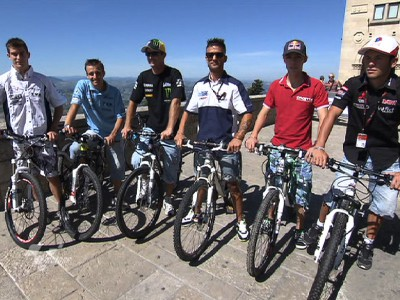 Edwards and co. mountain bike through San Marino