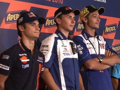 Lorenzo and Pedrosa chasing victory at Rossi's home circuit