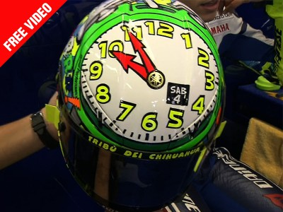 Rossi's latest helmet design