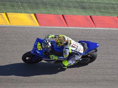 Rossi tests at Aragón