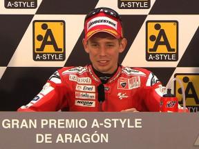 La conférence de presse de la course d'Aragón