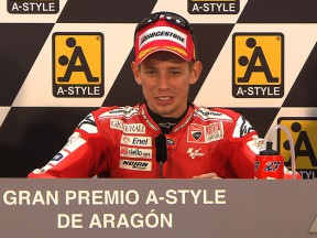 La rueda de prensa post carrera de Aragón