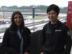 En la pista  de Motegi con Shinya Nakano