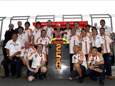 El Repsol Honda Team alcanza los 250 podios