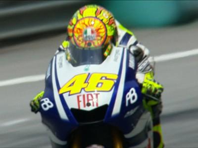 Rossi, delante de todos en el arranque de Sepang