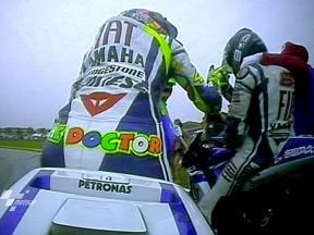 決勝レース:V.ロッシ、今季2勝目&L.ロレンソ、ワールドチャンピオン
