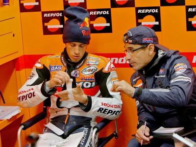 Un problema mecánico corta la racha de podios de Dovizioso