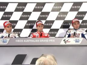 Conferência de imprensa do Iveco Australian Grand Prix