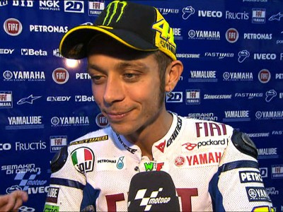 "Rossi relieved to qualify fourth after ""difficult day"""