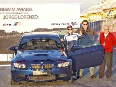 Lorenzo collects BMW M Award in Valencia