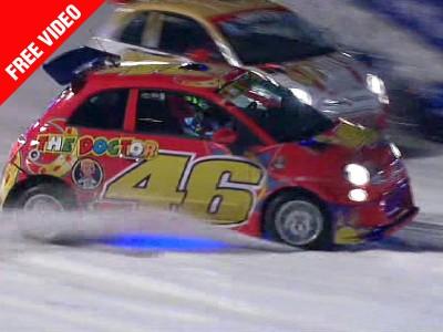 Une spectaculaire course sur glace conclut le Wrooom 2011