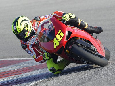 Rossi tests fitness at Misano