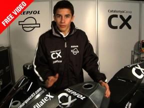 Márquez comenta al detalle su nueva Moto2