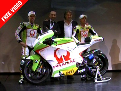Capirossi and De Puniet attend Pramac presentation