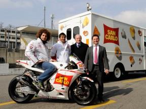 El equipo San Carlo Honda Gresini se ha presentado en Monza