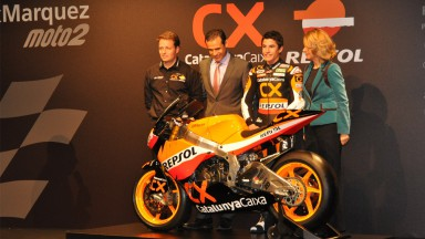 Marc Márquez presents his new bike in Barcelona