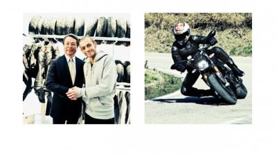 Valentino Rossi firma un acuerdo de colaboración con Bridgestone