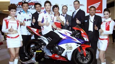 Presentación en Bangkok del Thai Honda Singha SAG