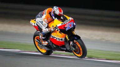 Stoner shines in FP1 MotoGP