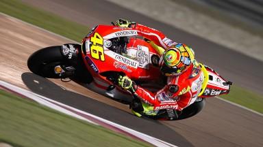 Rossi zufrieden, Hayden braucht nach MotoGP FP1 Verbesserungen