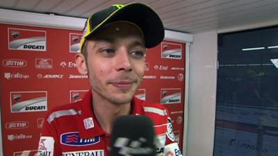 Rossi lamenta la caída pero confía en su ritmo