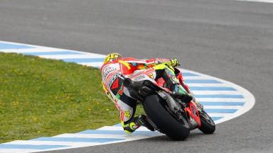 Hayden sul podio di Jerez, Rossi scivola ma rimonta per prendersi il quinto posto