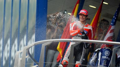 Hayden takes first Ducati podium of 2011
