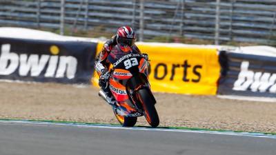 Márquez sigue mejorando su Suter en Jerez