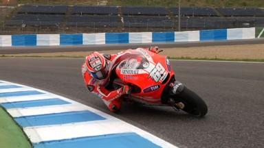 Hayden conclut le premier test de la Ducati GP12 à Jerez