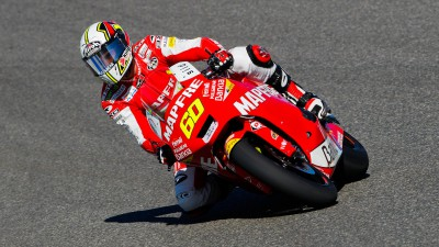 Simón y Forés, en un test privado de Moto2 en Valencia
