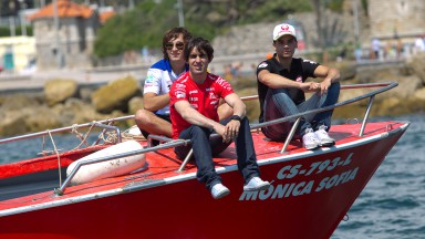 MotoGP riders prepare for Portugal on water