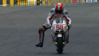 Simoncelli leads a Honda top three in FP1