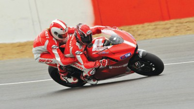 Enjoy the thrill of Silverstone on the Ducati two-seater
