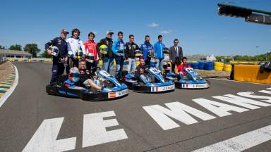 MotoGP riders have fun go-karting ahead of Le Mans