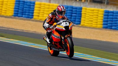 Le Mans warm up led by Márquez